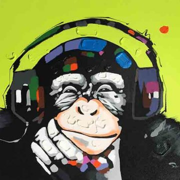 Chimp Headphones GREEN