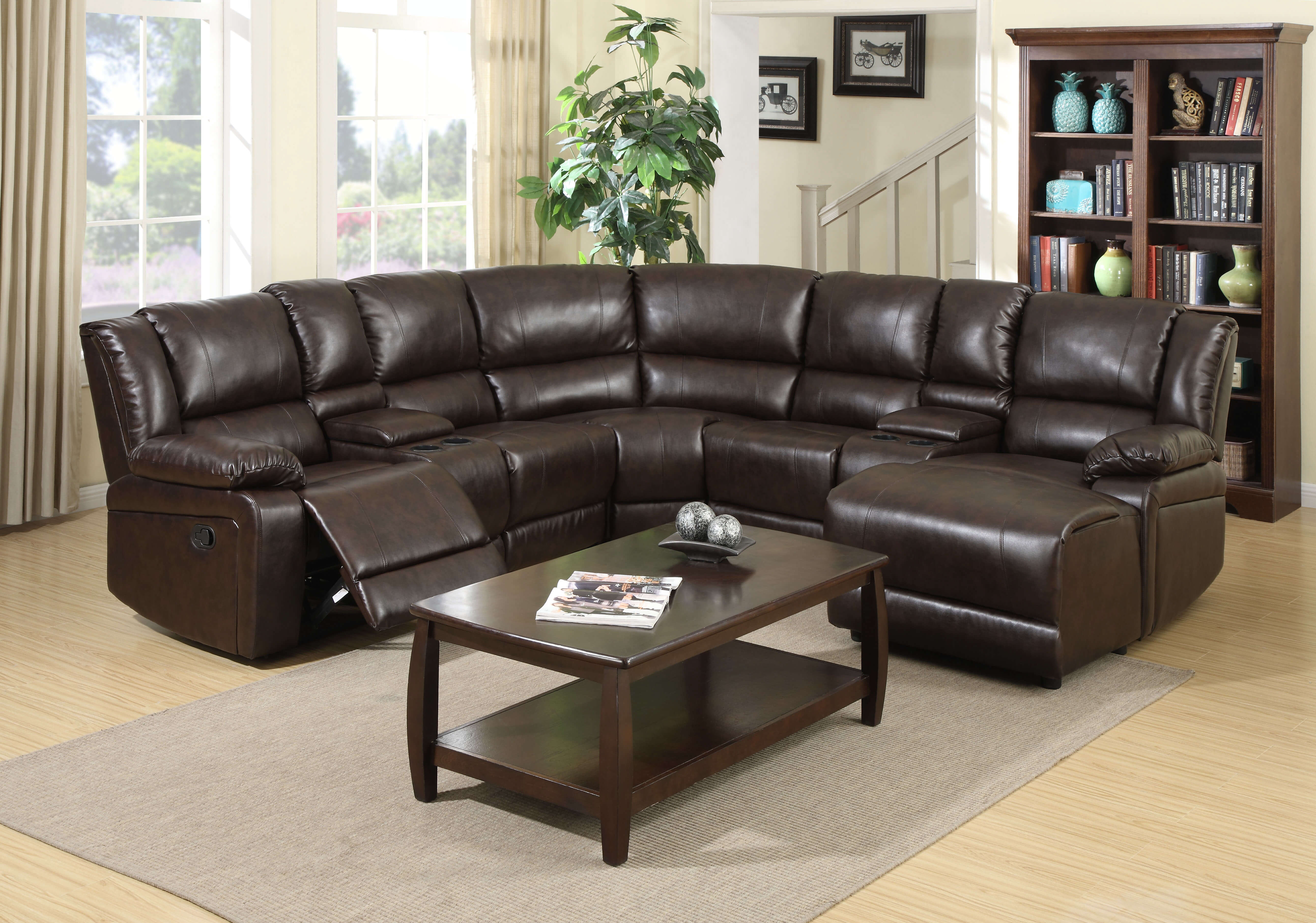 Jack Reclining Chaise Sectional by Bella Furniture