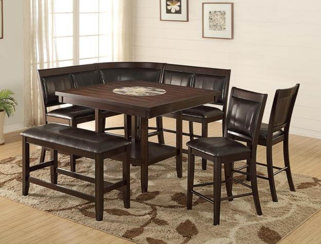 Crown Mark Harrison Counter Height Dining Set
