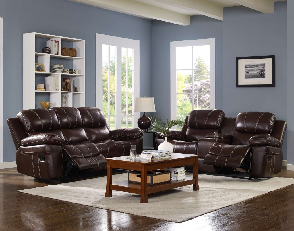 Legato Dark Brown Leather Reclining Furniture