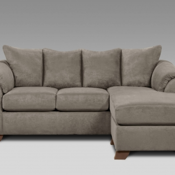 Sensations Grey Sofa/Chaise by Affordable