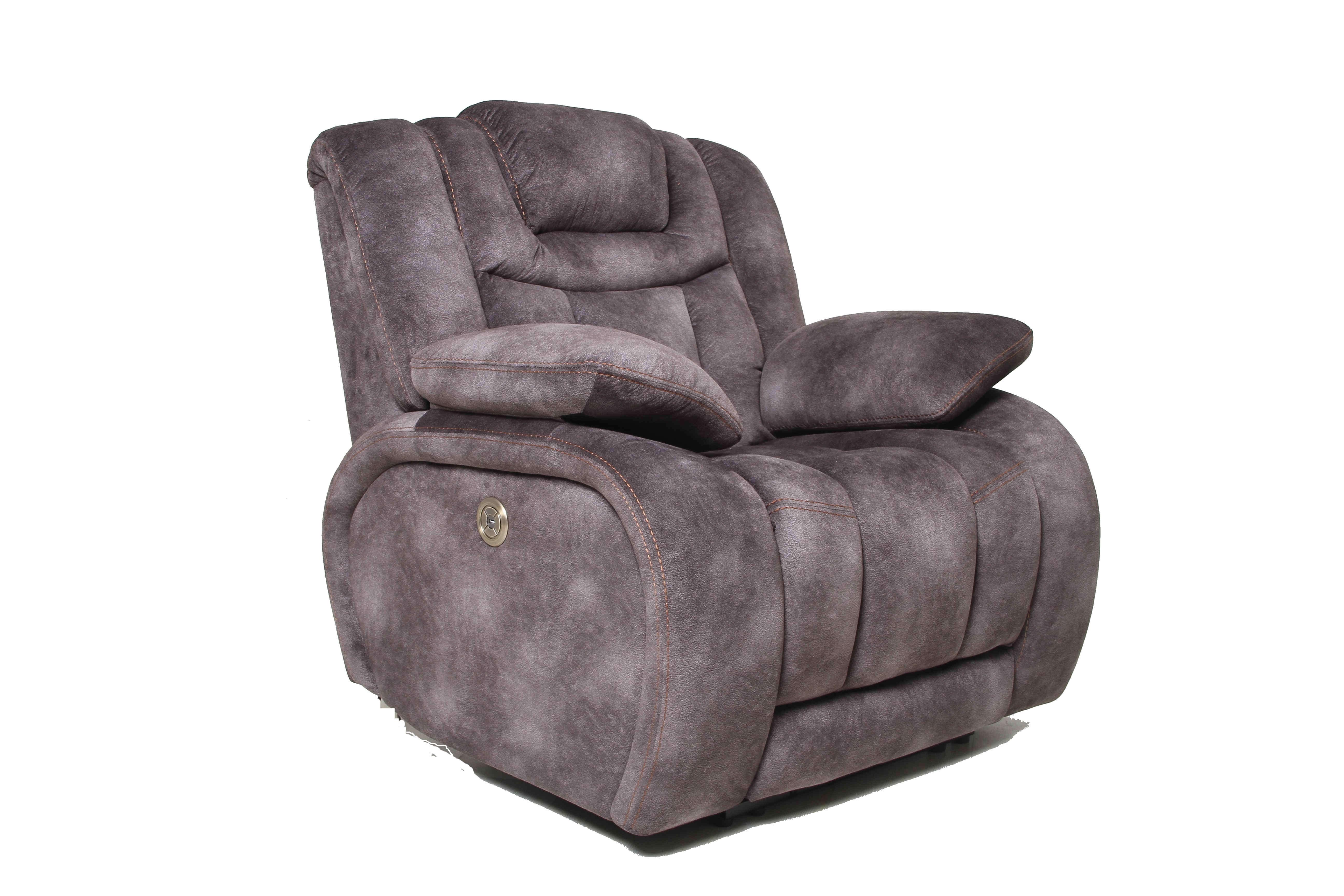 Terminator Power Dual Reclining Sofa With Adjustable Headrest