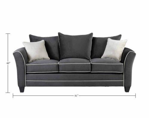 Bing Ash Sofa and Loveseat Set