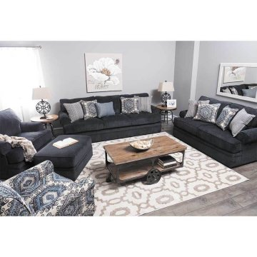 Bellamy Slate Sofa and Loveseat by Simmons