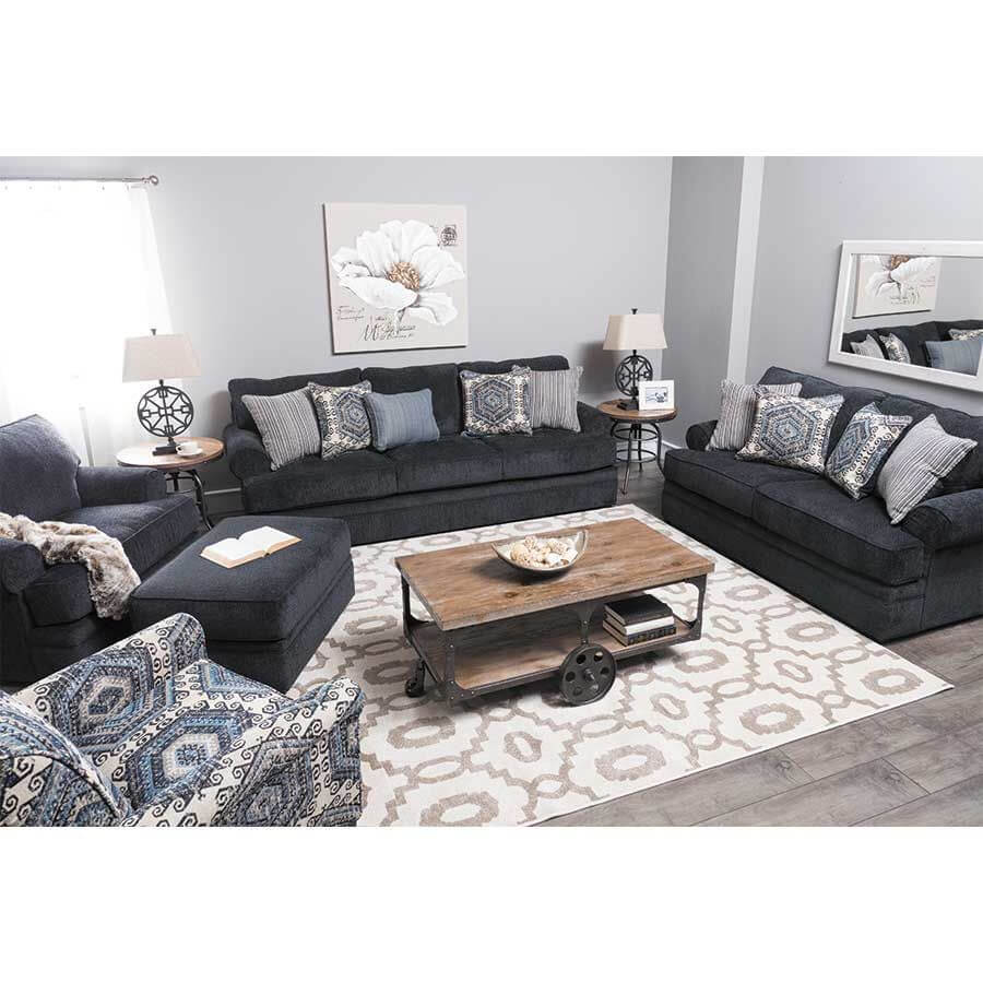 8530 Bellamy Slate Sofa and Loveseat by Simmons