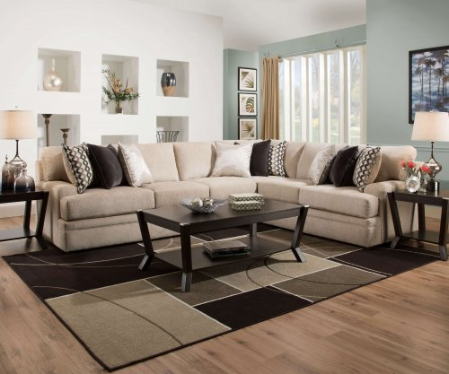 Bellamy Putty Sectional by Simmons