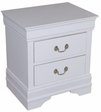White Louis Philip Nightstand by Crown Mark