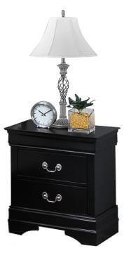 Black Louis Philip Nightstand by Crown Mark