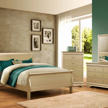 Champagne Louis Philip Bedroom Set by Crown Mark