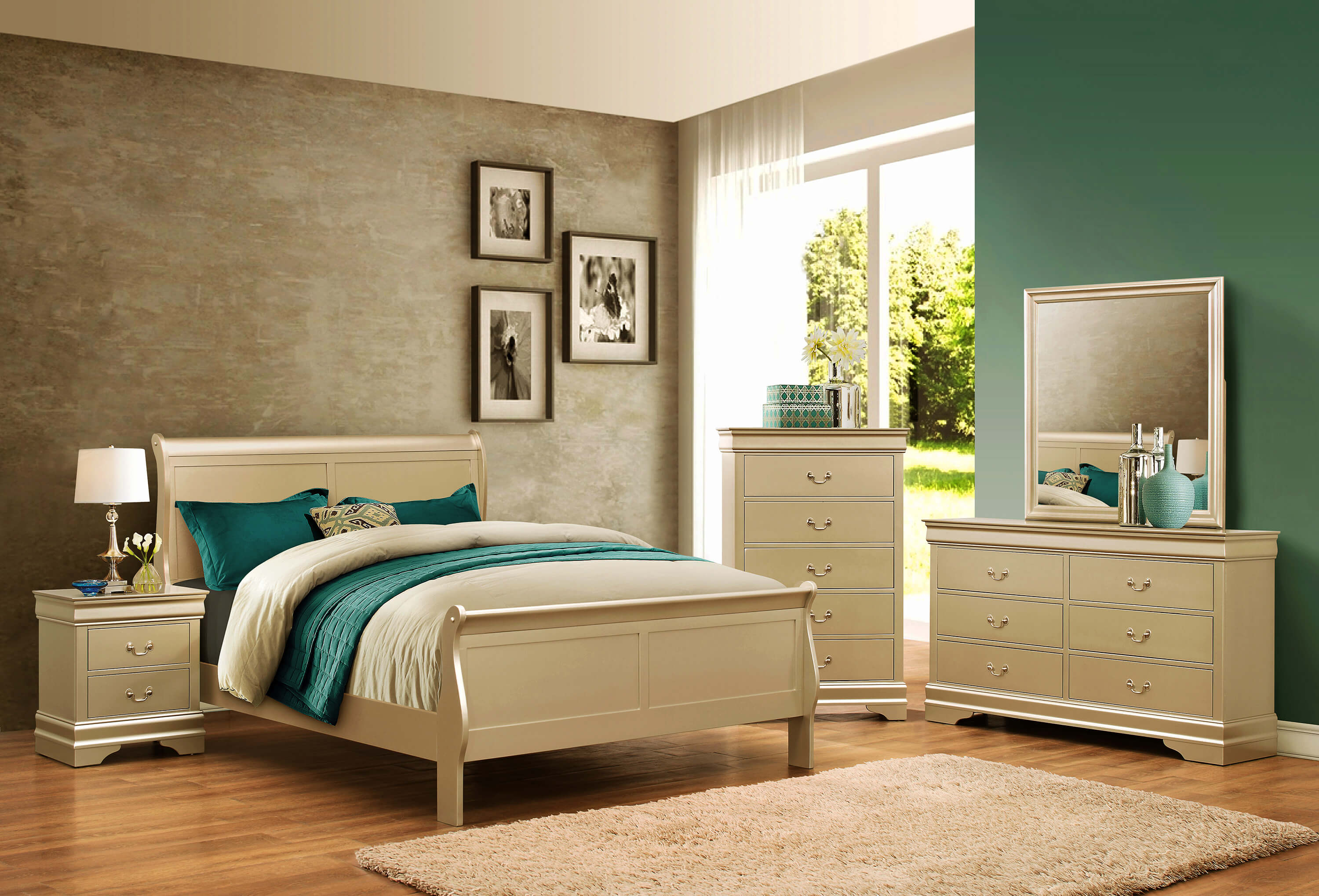 Champagne louis philip bedroom set bedroom furniture sets for Furniture markup