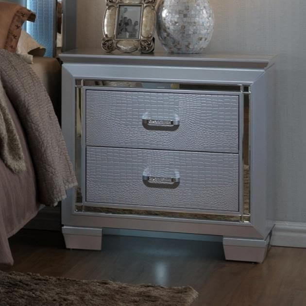 Lillian Bling Nightstand By Crown Mark Nightstand