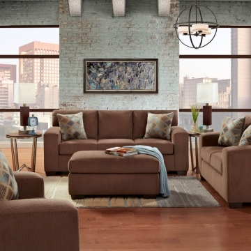 Charisma Cocoa Sofa and Loveseat