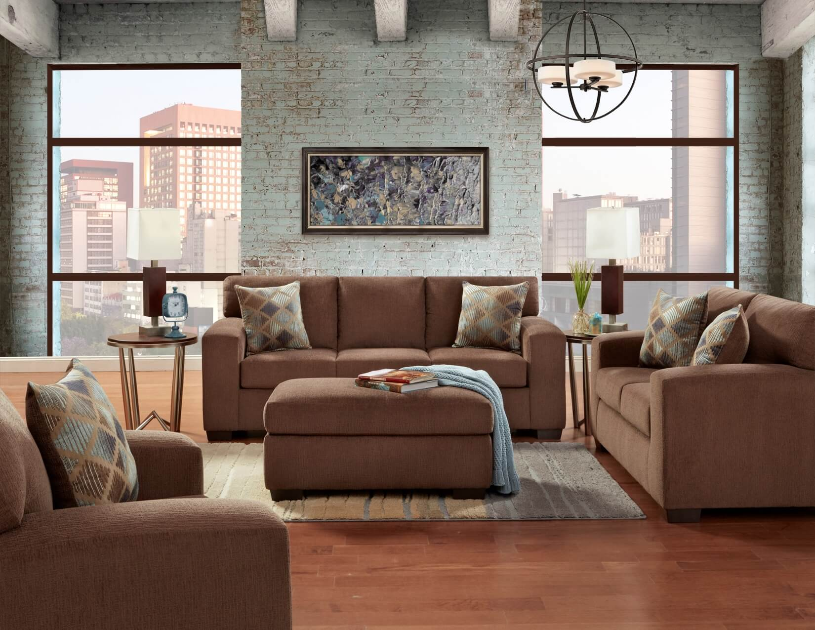 Charisma Cocoa Sofa And Loveseat Urban Furniture Outlet