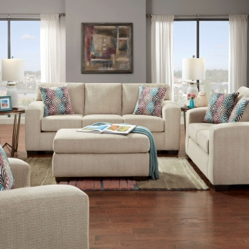 Silverton Platinum Sofa and Loveseat