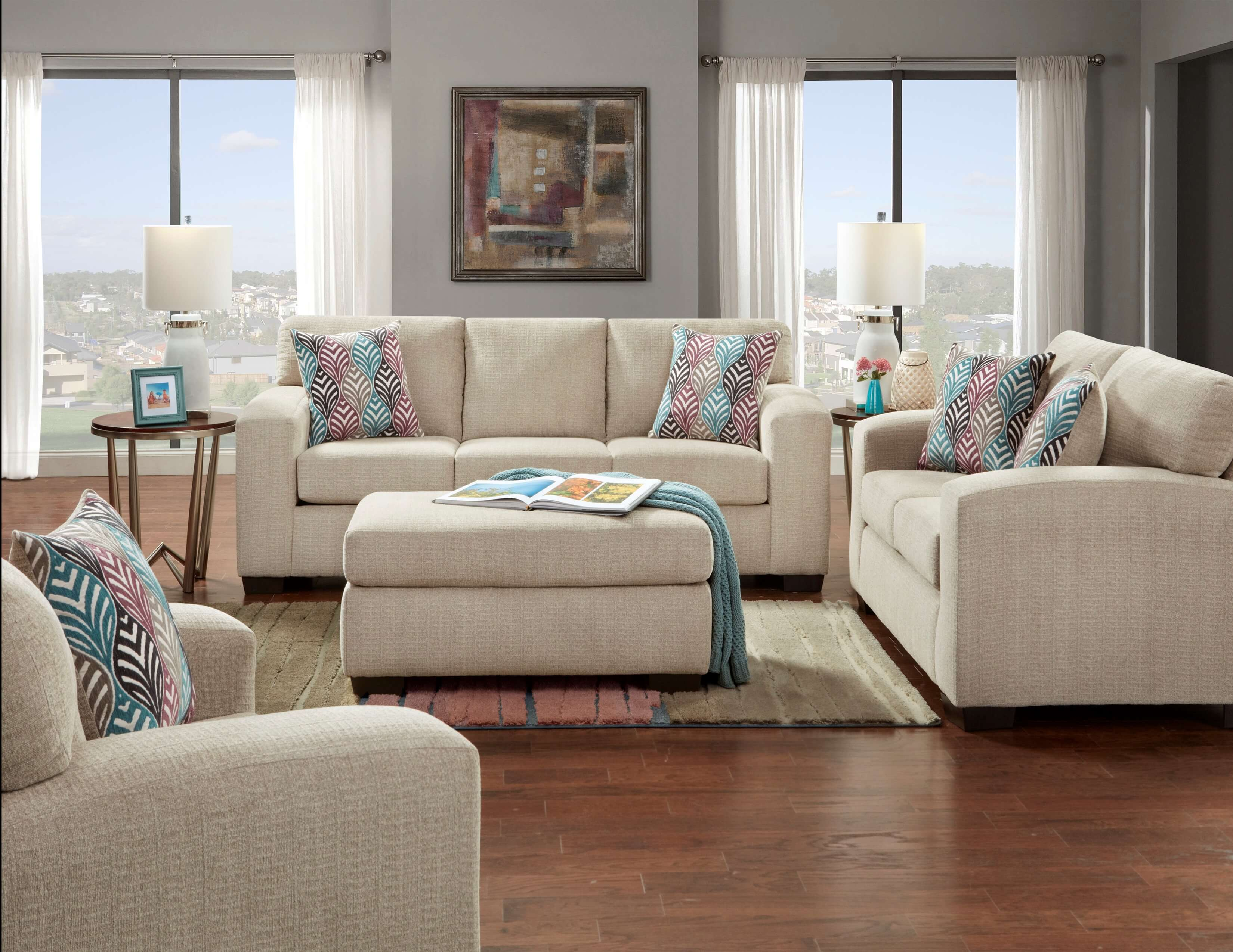 Silverton Platinum Sofa And Loveseat Urban Furniture Outlet