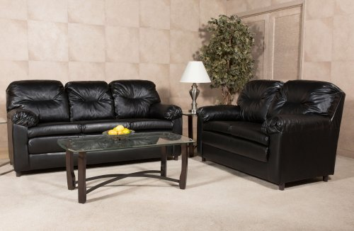 Bravo Black (Sofa and Loveseat)