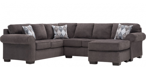Charisma Smoke Sectional by Affordable Furniture