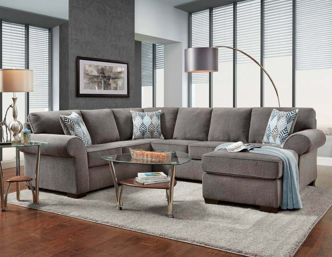 Charisma Smoke Sectional by Affordable Furniture | Sectional Sofa Sets