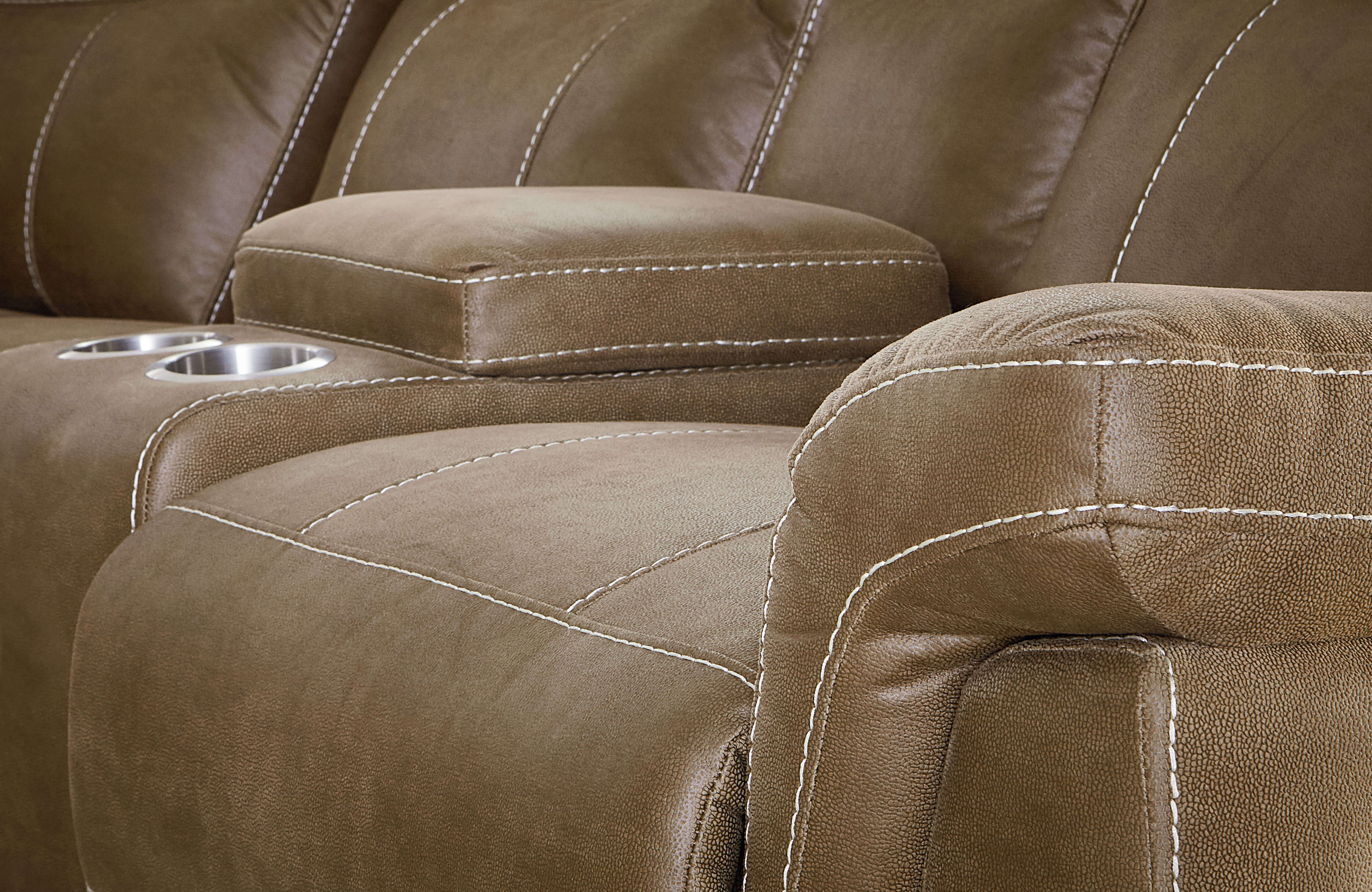 Boardwalk Brown Reclining Sofa and Loveseat by Standard Furniture