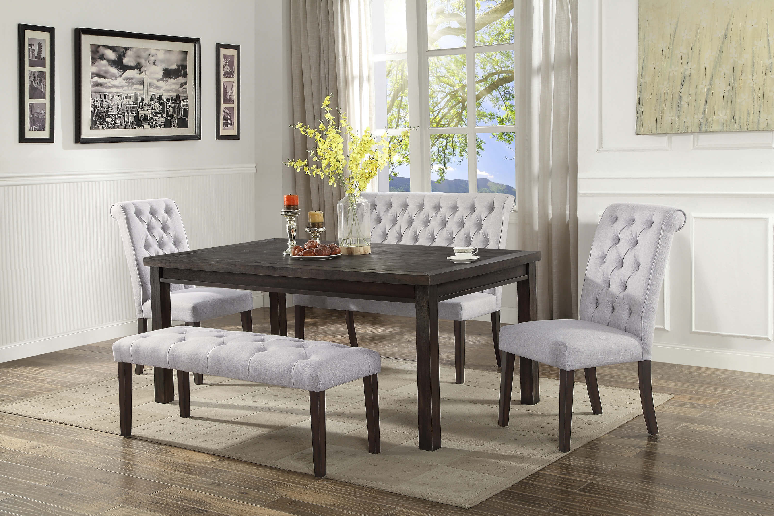 2022 5 pc Palmer Dining Set with Bench