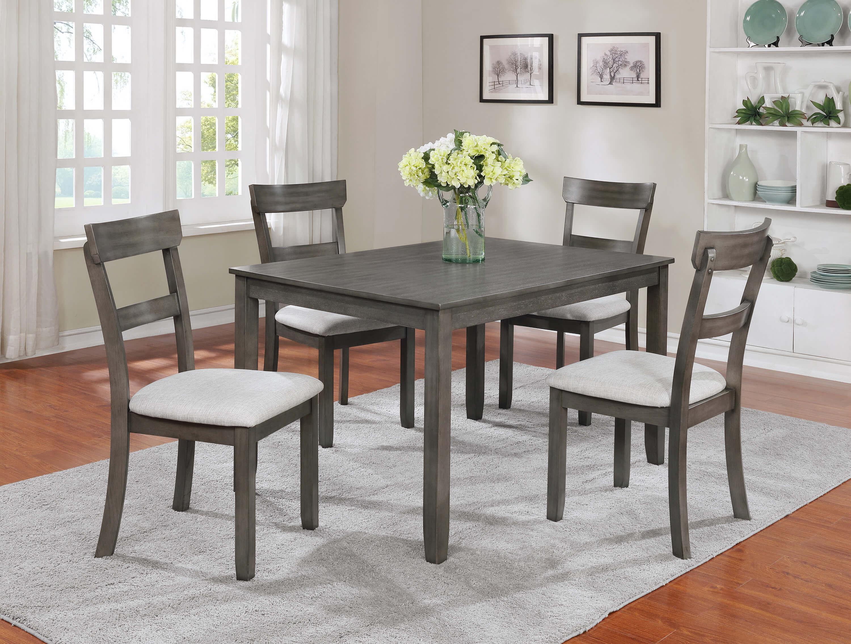 5 Pc Henderson Grey Dining Room Set