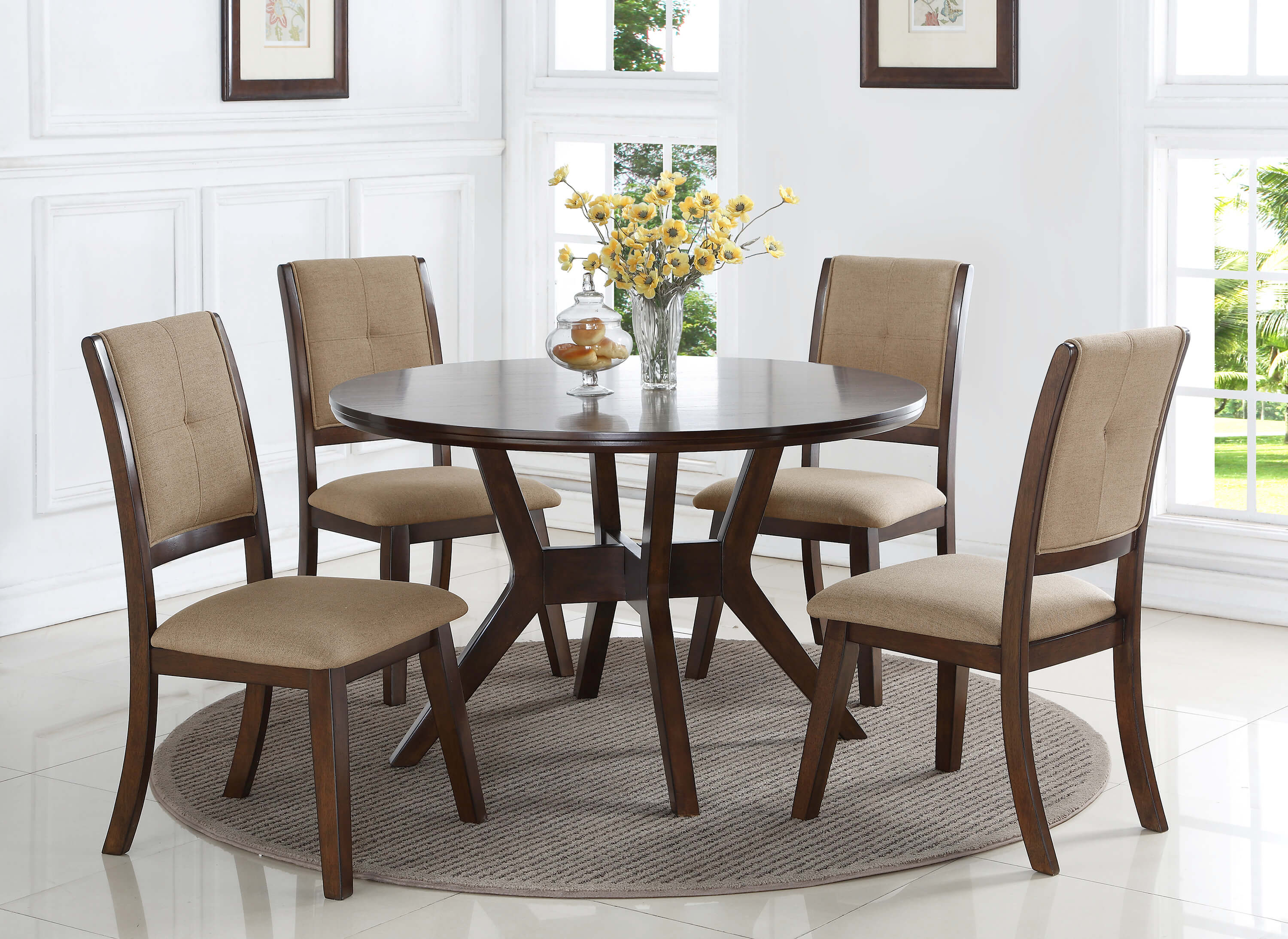 5 Pc Barney Metro Modern Dining Set