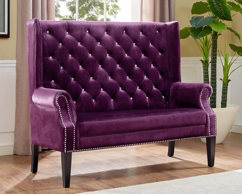 Odina Purple Accent Loveseat