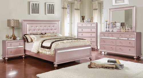 Ariston Rose Gold Bedroom Set