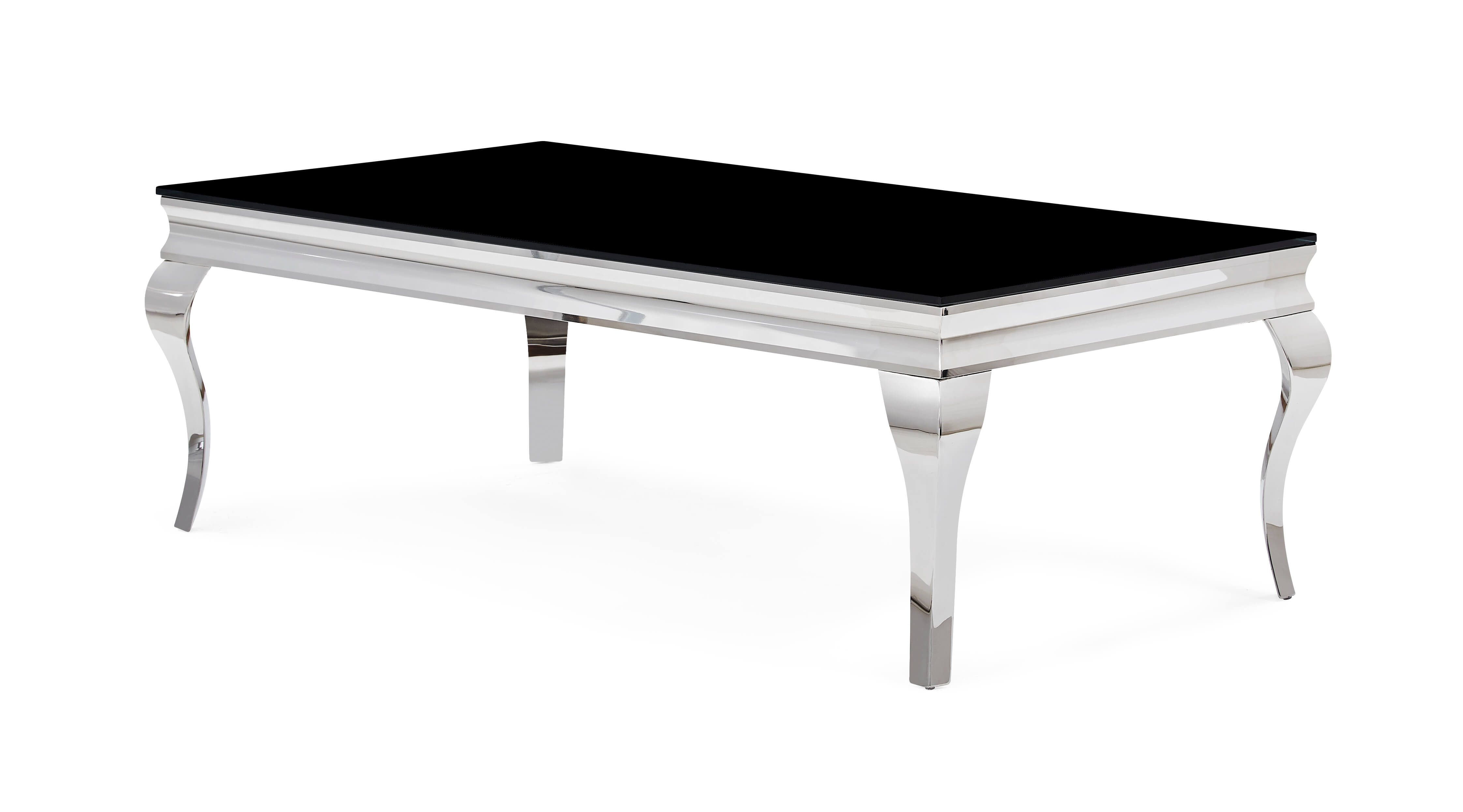 Neoclical Black And Chrome Coffee Table