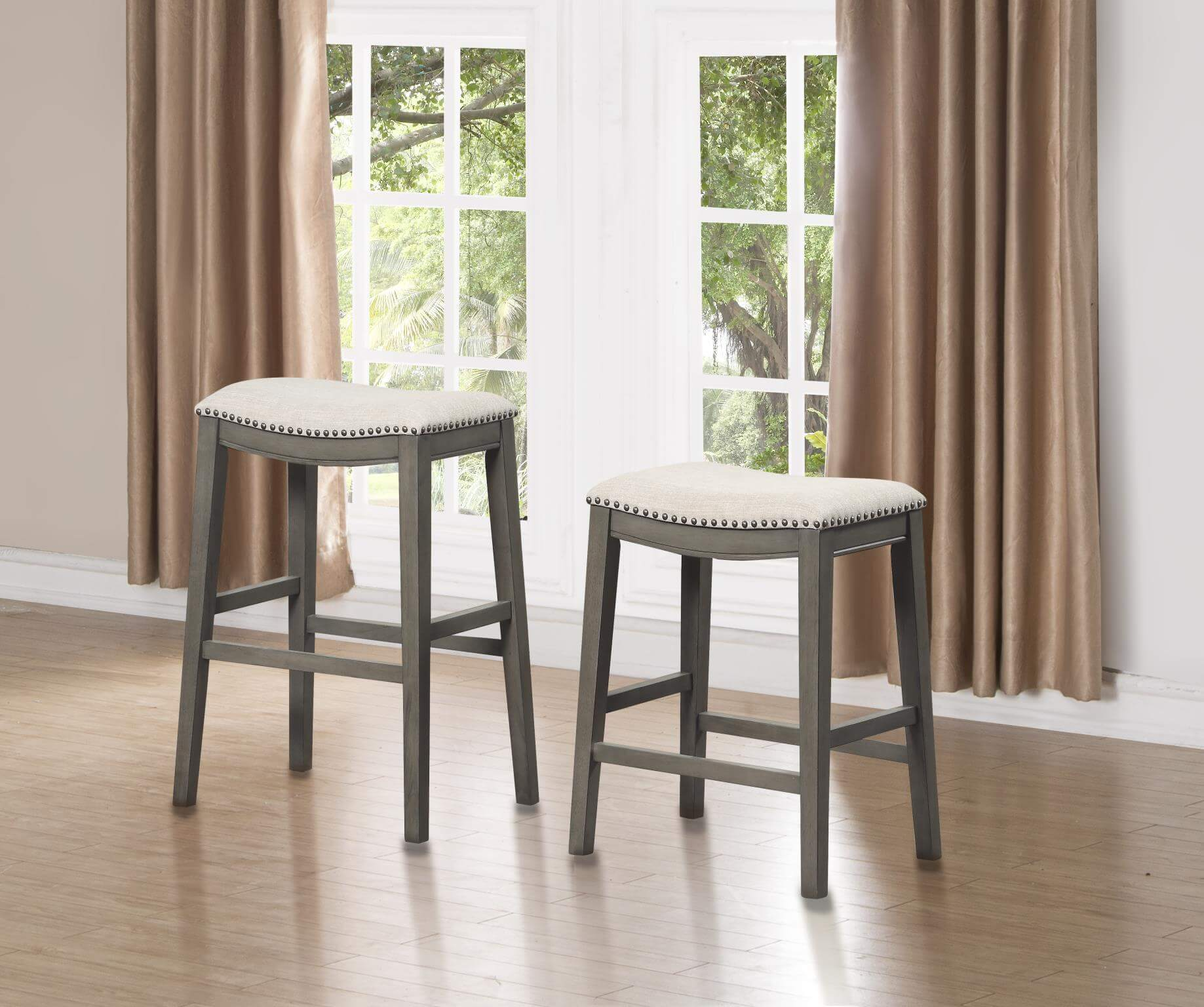 433 kith grey and linen wood barstool