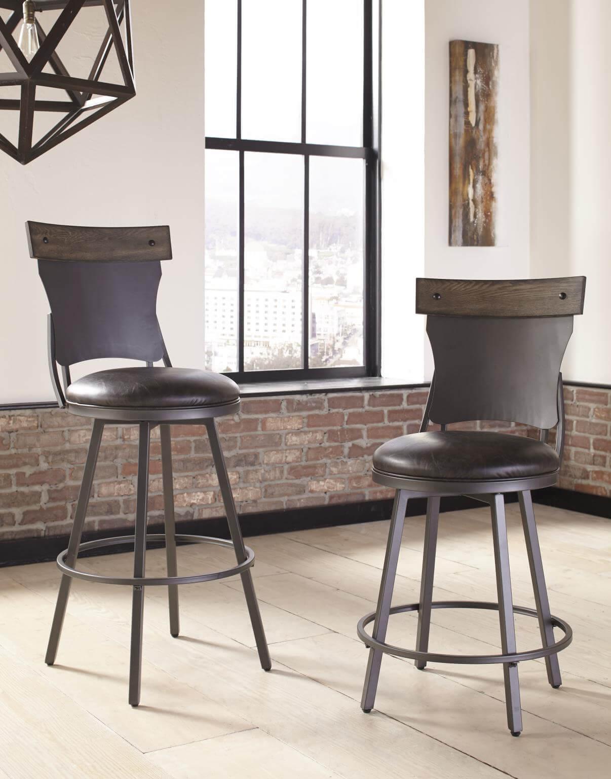 Brilliant 703 Kith Swivel Metal Barstool Uwap Interior Chair Design Uwaporg