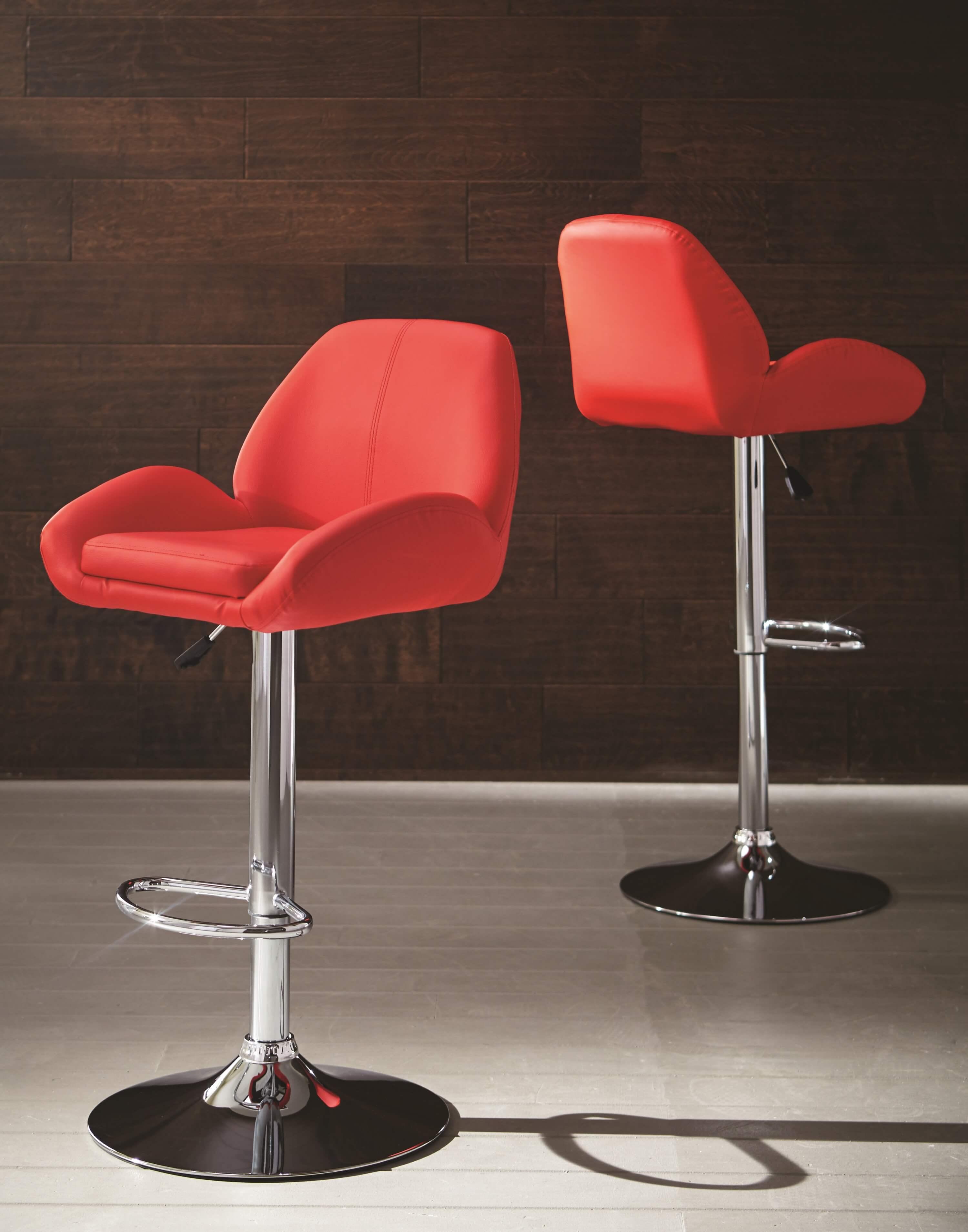 Red Adjustable Bar Stool Urban Furniture Outlet