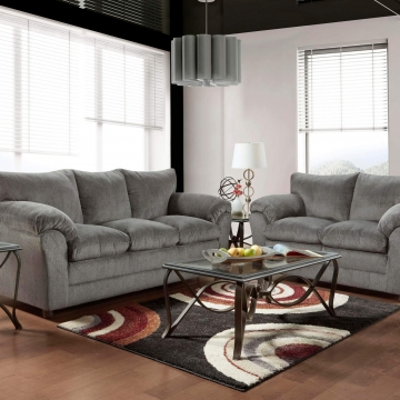 Kelly Grey Sofa and Loveseat