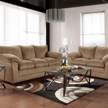Kelly Bark Sofa and Loveseat