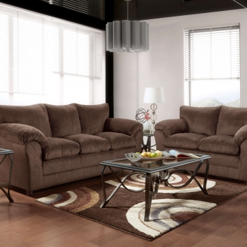 Kelly Chocolate Sofa and Loveseat