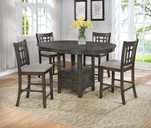 Crown Mark Hartwell Grey Counter Height Dining Room Set