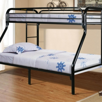 Black Twin Over Full Metal Bunk Bed