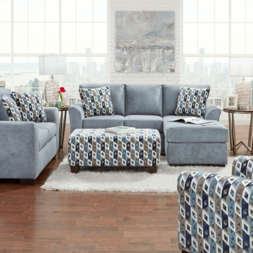 Anna Blue/Grey Sectional