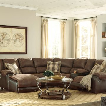 Nantahala Coffee Sectional with Chaise
