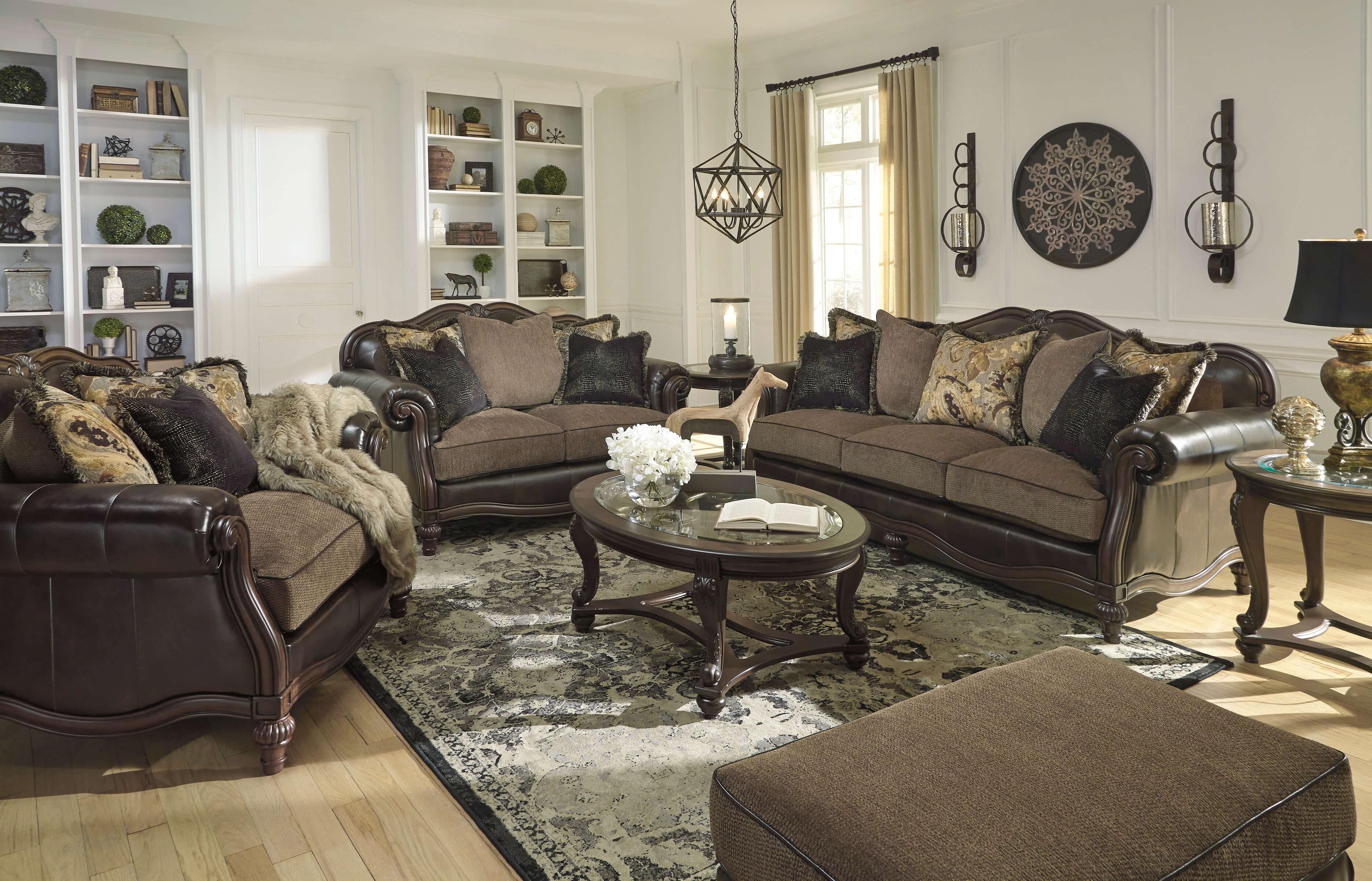 Winnsboro Classic Sofa And Loveseat Fabric Living Room Sets