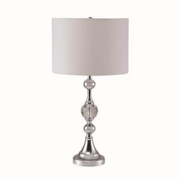 Chrome and Faux Crystal Table Lamp