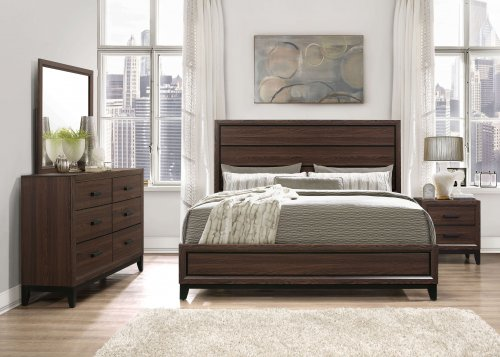 Kate Beech Wood Chocolate Bedroom Set-DISCONTINUED