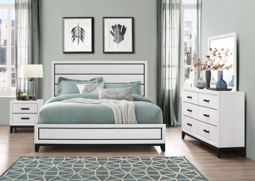 Kate Beech Wood White Bedroom Set