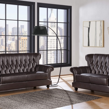 Agnes Coffee Sofa and Loveseat