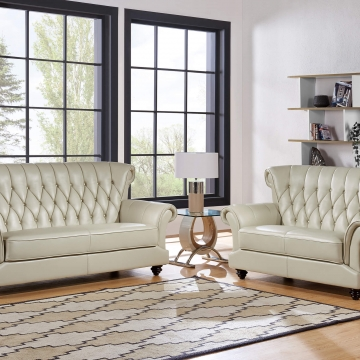 Blanche Pearl Sofa and Loveseat