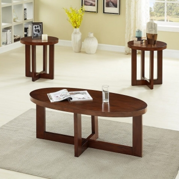 Oval Cherry Coffee and End Table Set