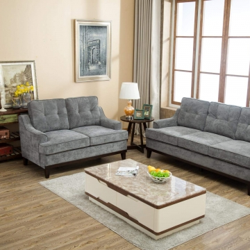 Kasper Grey Sofa and Loveseat