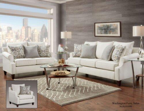 Bay Ridge Cream Sofa and Loveseat