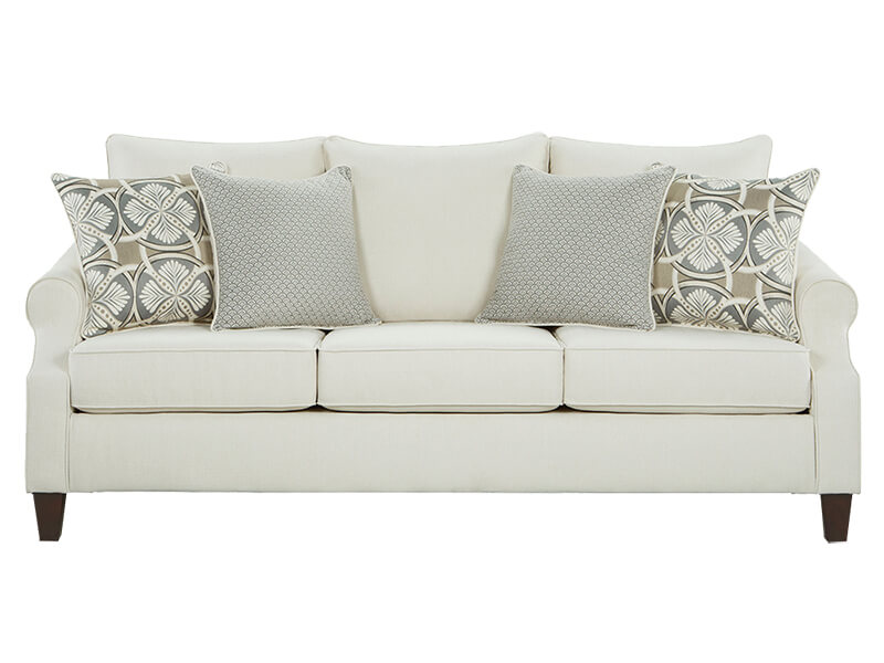 Bay Ridge Cream Sofa and Loveseat