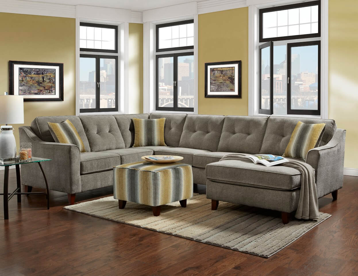 Sydney Grey Sectional Sectional Sofa Sets